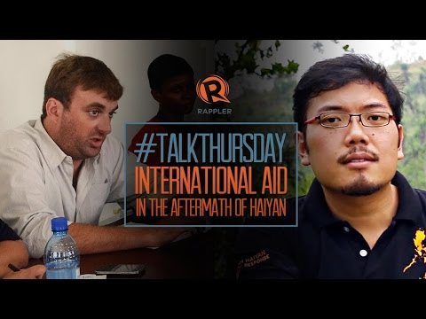 #TalkThursday: Post-Haiyan international aid