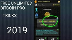 Unlimited Bitcoin Pro & How To Claim Bitcoin in 5seconds 2019
