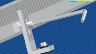 REWA - montage op golfplaten dak