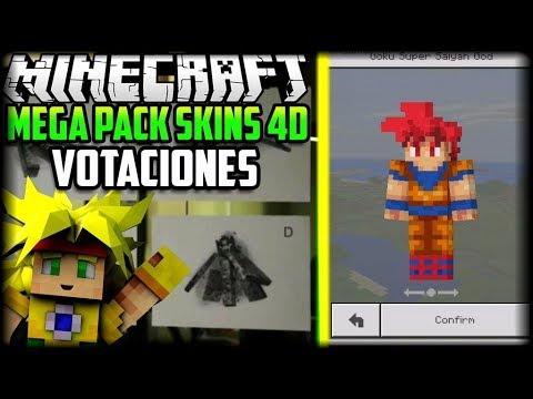 MEGA PACK DE SKINS DD PARA MINECRAFT X NUEVOS MOBS Y - Skins para minecraft pe en 4d