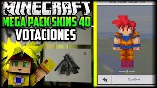 MEGA PACK DE SKINS 3D/4D PARA MINECRAFT 1.2.X - NUEVOS MOBS Y VOTACION - NOTICIAS