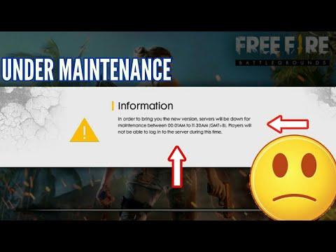 Free fire battlegrounds UPDATE ||Server Down for Maintenance ...