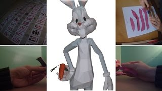 PAPERCRAFT #5 - Bugs Bunny - Looney Tunes (Stop Motion)