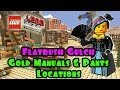 Flatbush Gulch - Gold Manuals & Pant Locations (The Lego Movie Video Game) FREE PLAY