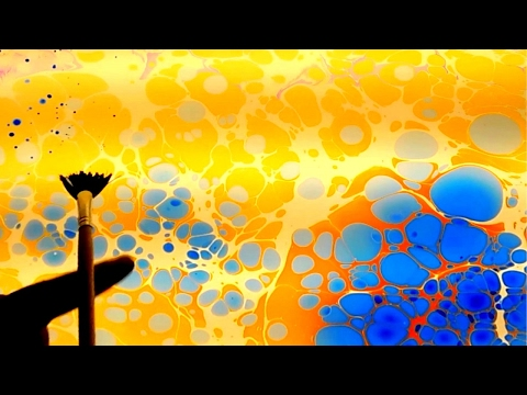 Ebru Art Amazing Turkish art technique called Ebru Floating dyes or paint on water | CAPITELLO art
