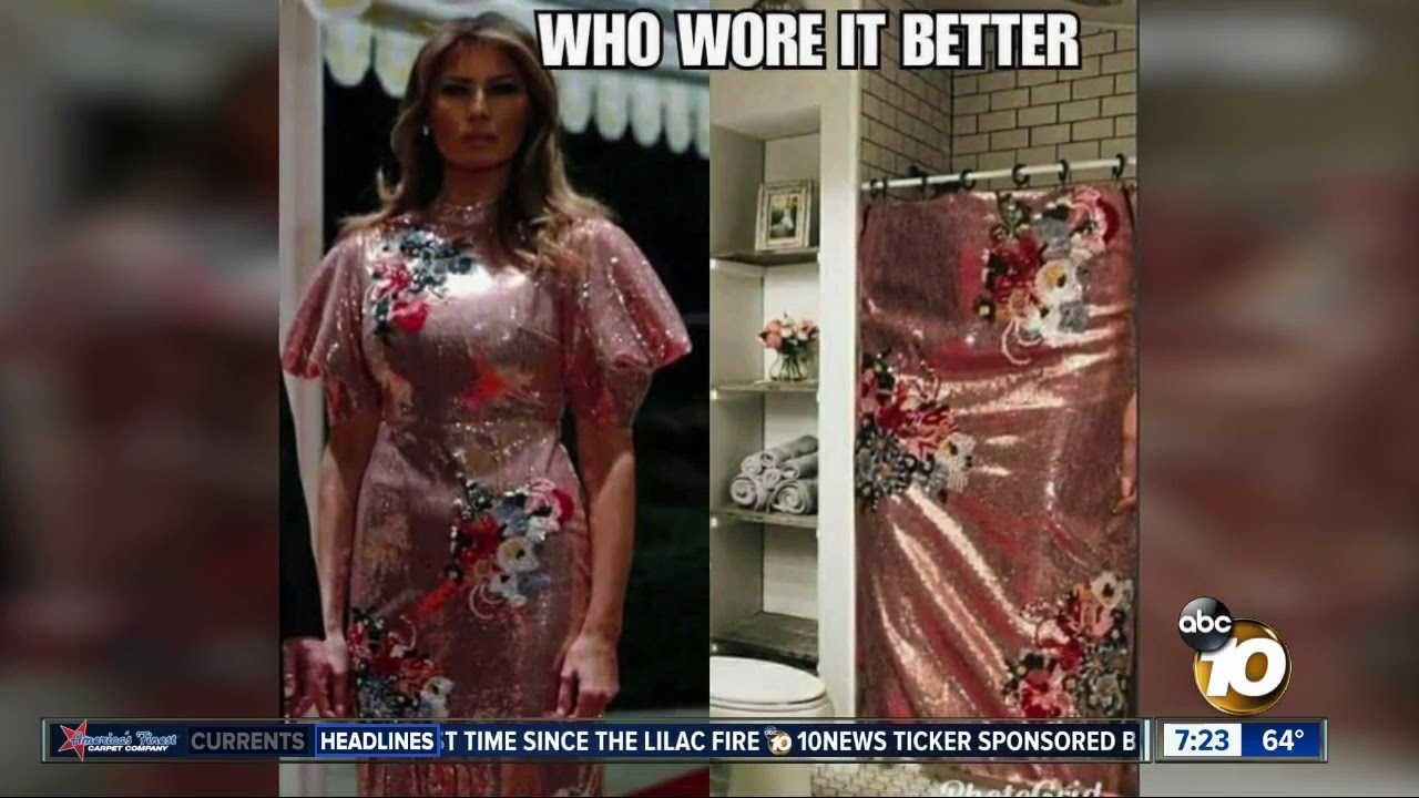 First Lady Wore A Shower Curtain Dress