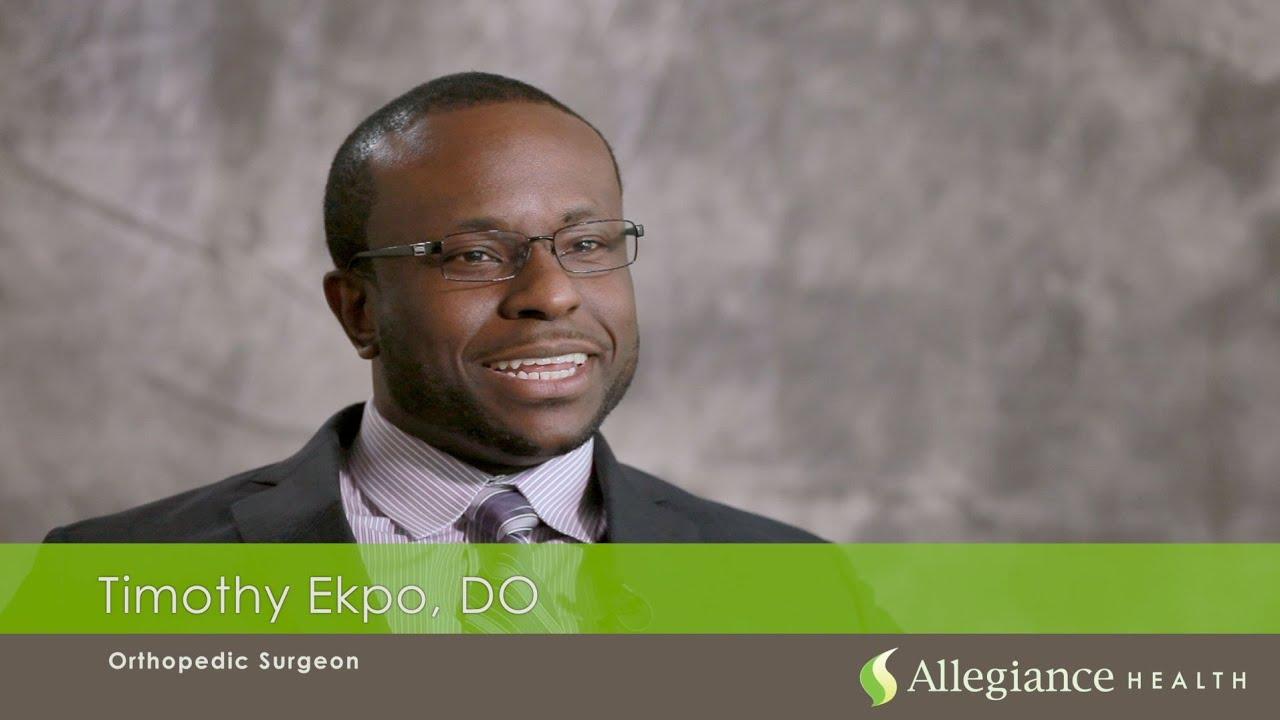 Meet Orthopaedic Surgeon Timothy Ekpo, DO
