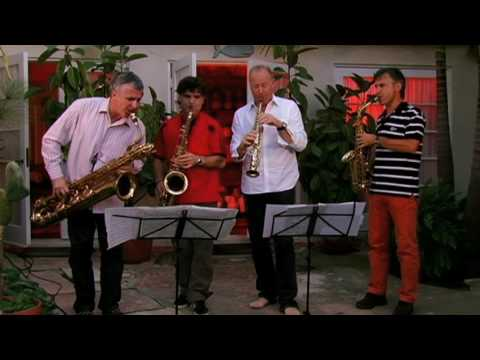 The Italian Saxophone Quartet performing Libertango by Astor Piazzolla