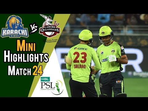 Short Highlights | Lahore Qalandars Vs Karachi Kings  | Match 24 | 11 March | HBL PSL 2018 thumbnail