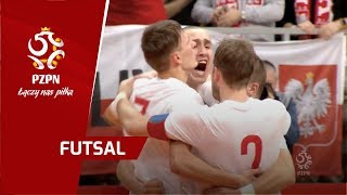 Futsal: Skrót meczu Polska - Rosja (Nysa)