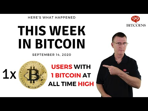🔴 Number Of Users Who Own At Least 1 BTC At ATH   This Week In Bitcoin - Sep 14, 2020