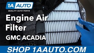 How to Replace Install Engine Air Filter 2012 GMC Acadia Buy Quality Auto Parts from 1AAuto.com