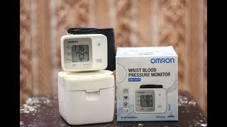 omron wrist blood pressure monitor unboxing and how to use