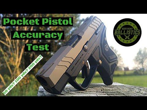Pocket Pistol Accuracy Test