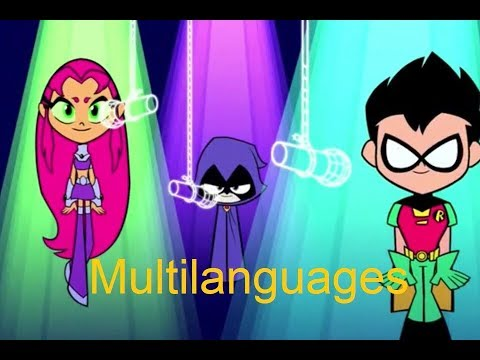 Waffles song (Robin, Starfire and Raven) - 8 Languages