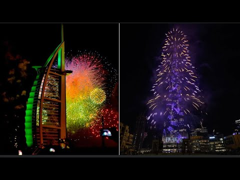 Dubai Burj al Arab fireworks 2019 new year celebration