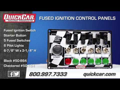 Quickcar Racing Products 50-863 Dash Mount Switch Panel 6-7//8 x 3-1//4in Aluminum
