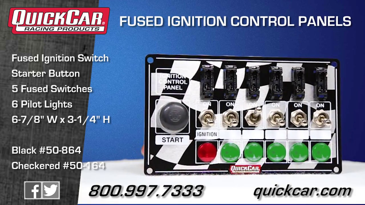 quickcar fused ignition control panel 50 864 164 youtube quickcar ignition panel wiring diagram [ 1280 x 720 Pixel ]