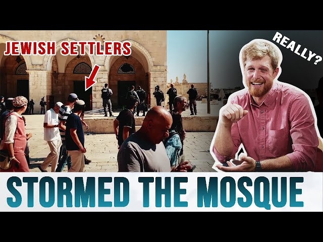 """ACTUAL FOOTAGE of the Jewish Settlers Who """"Stormed"""" the Aqsa Mosque"""