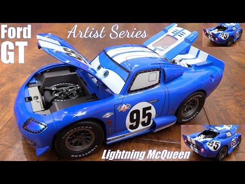 Toy Review: Kids' Toy Cars! Disney Pixar CARS Lightning McQueen Artist Series Custom Diecast Ford GT