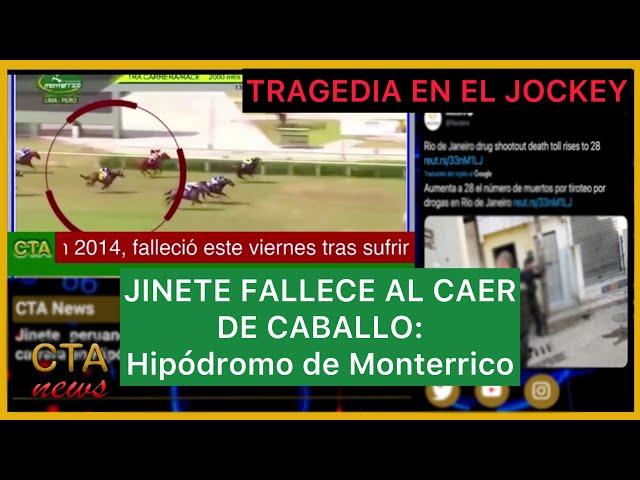 TRAGICO ACCIDENTE en el JOCKEY: Jinete peruano falleció durante carrera