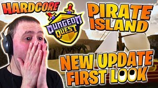 NEW PIRATE ISLAND Hardcore Insane FIRST LOOK NEW UPDATE ⚔️ Dungeon Quest | Roblox PRO PC