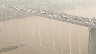 شاهد: أمطار طوفانية تضرب الصين