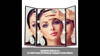 LuckyFine LED Tri-Fold Compact Travel Mirror Amazon.ca Product Review