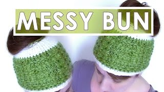 How to Knit MESSY BUN HAT