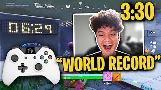 I Got the World Record Time on Mongraals Edit Course!! (CONSOLE RECORD)
