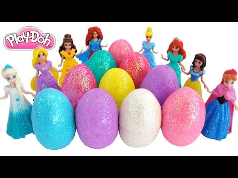 Thumbnail: Learn Colors Play Doh Surprise Eggs! Frozen & Disney Princesses Finger Family * RainbowLearning