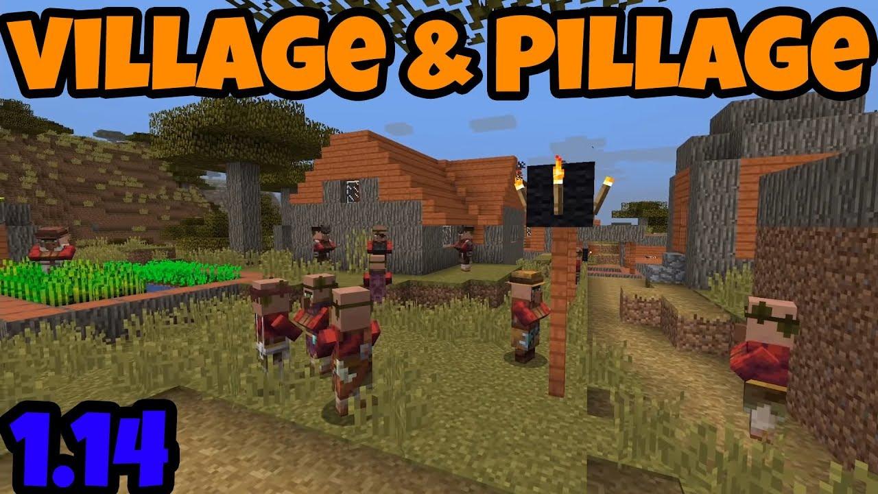 Minecraft 1 14 Village Pillage Update Revealed Youtube