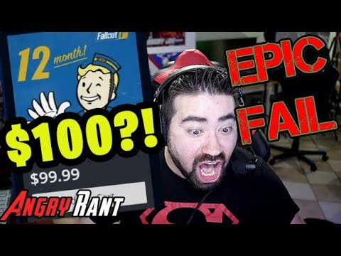Fallout 76 Adds A $100 Annual Subscription!! - Angry Rant!