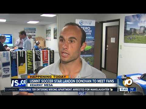 American soccer star to meet with fans in San Diego