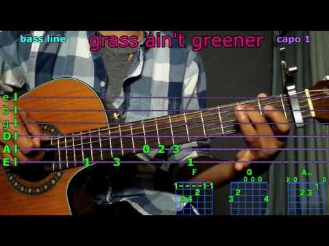 grass ain't greener chris brown guitar chords