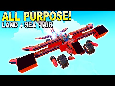 3 Vehicles in 1 Car/Boat/Plane Race! - Trailmakers Multiplayer  
