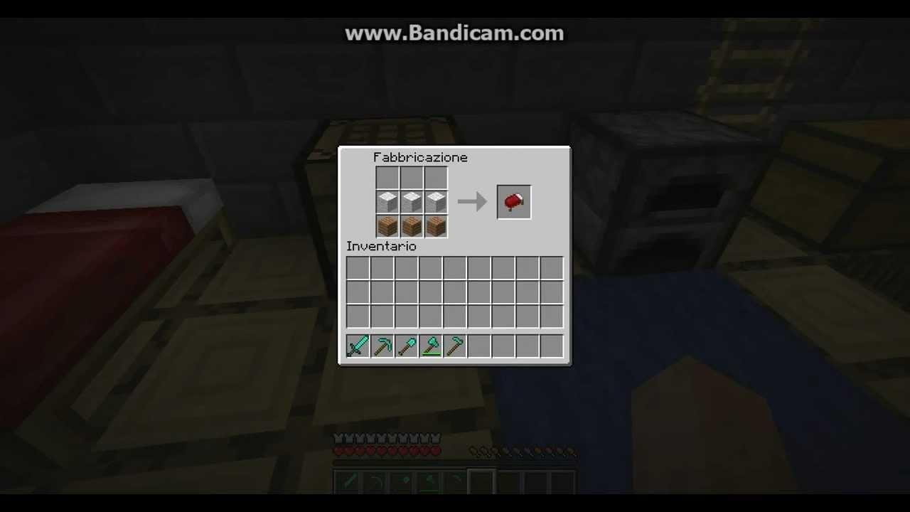 Come Fare Un Letto Su Minecraft : Come creare un letto su minecraft. youtube