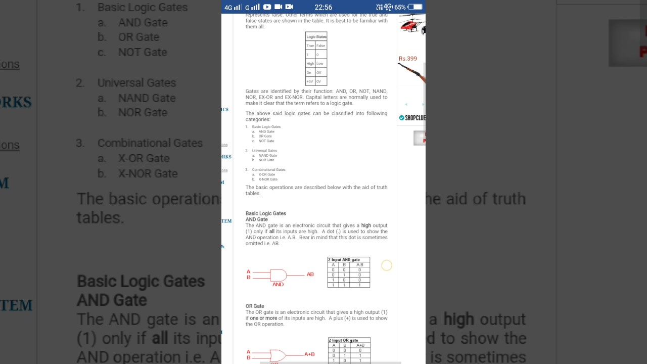 Logic Gates Youtube And Gate In An Output C Is Produced Only If The Two