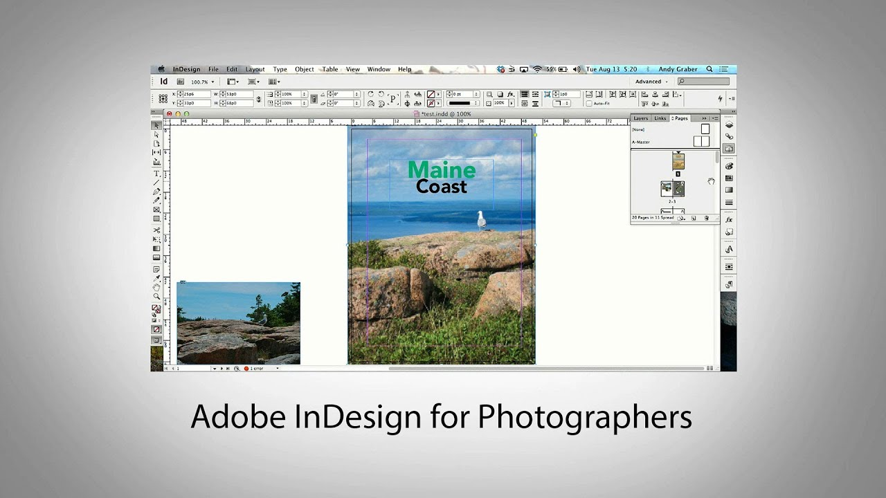 Adobe InDesign for Photographers - YouTube