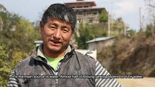 Sustainable water resources management, at Bidung, Trashigang