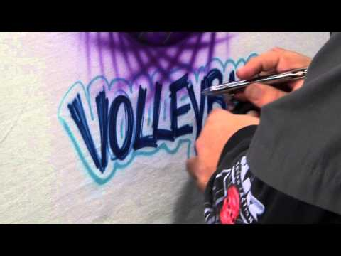 Thumbnail: TOP SELLING AIRBRUSHED T-SHIRT DESIGN: VOLLEYBALL BY LEGEND, TERRY HILL