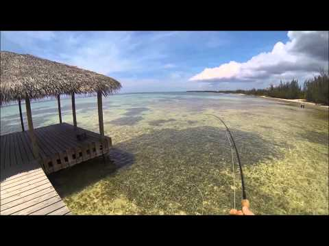 Flyfishing for bonefish, Cayman Islands