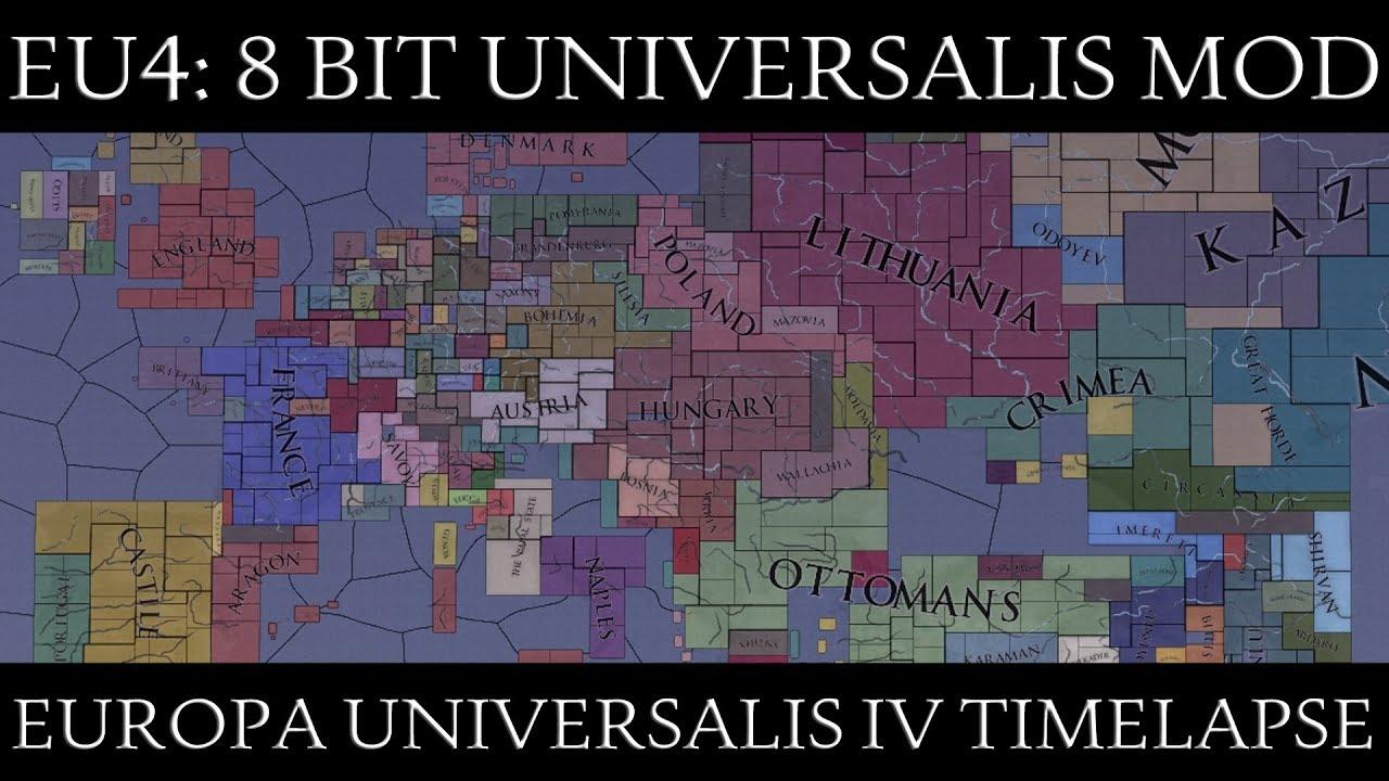 EU4 Timelapse: 8 Bit Universalis Mod