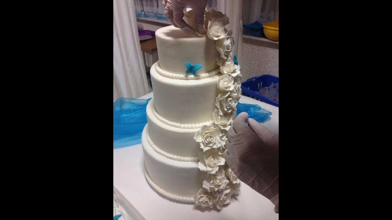 4 Stockige Hochzeitstorte Teil 3 Erdbeer Sahne Fullung