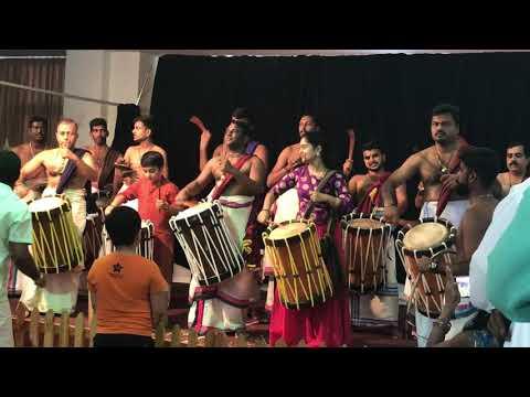 Shilpa Sreekumar Panchari melam Dubai 2017