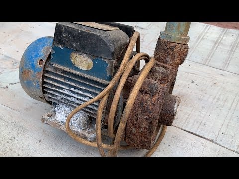 Restoration Old Rusty Electric waterpump | restore water pump motor
