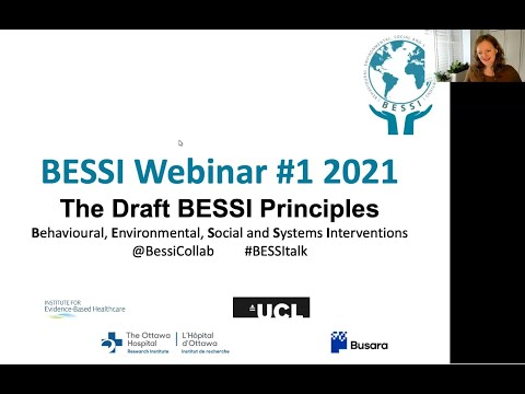 The BESSI Principles: 27 May 2021