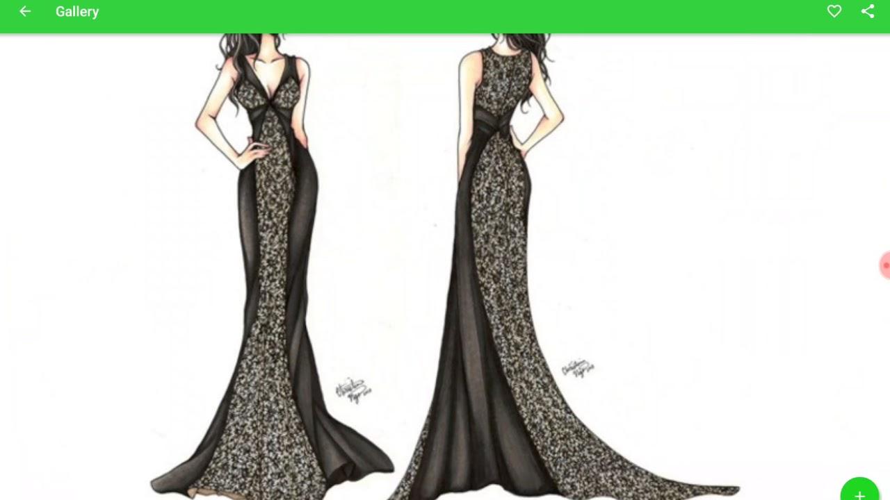 Модные дизайнерские идеи эскизы как рисовать супер стиль !!!