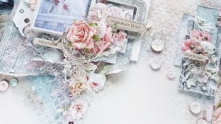 Step-by-step tutorial Wedding Shabby  Mixed-media Canvas