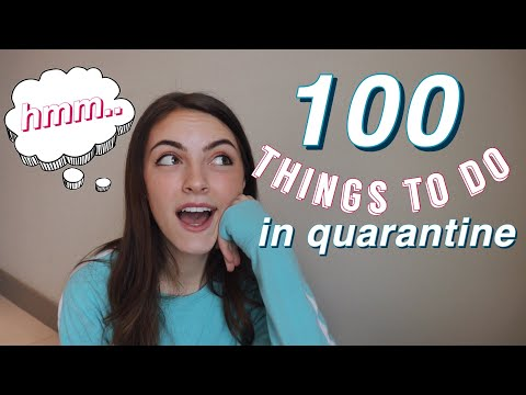 100 Things To Do When You're BORED in QUARANTINE!!